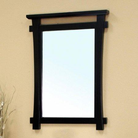 Bellaterra Home 203012-MIRROR Solid Wood Frame Mirror, Black