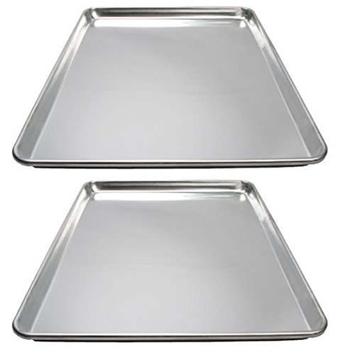 Winware ALXP-1826 Commercial Full-Size Sheet Pans, Set of 2 (18-Inch x 26-Inch, -