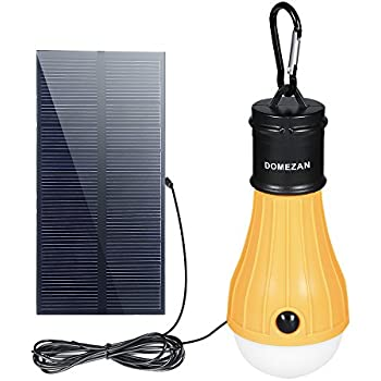 Solar Light Indoor DOMEZAN Portable Outdoor Emergency Light Rechargeable 165 LM Bulb for Hurricane Off  sc 1 st  Amazon.com & MicroSolar Super Bright - Lithium Battery - 60 LED Solar Shed ... azcodes.com