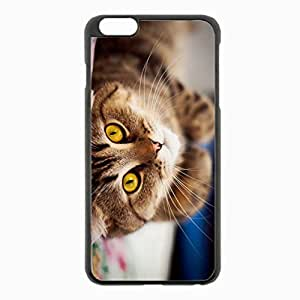 iPhone 6 Plus Black Hardshell Case 5.5inch - whiskers eyes Desin Images Protector Back Cover