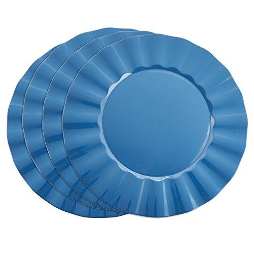 - SARO LIFESTYLE Collection Metallic Ruffle Design Round Charger Plate, 13