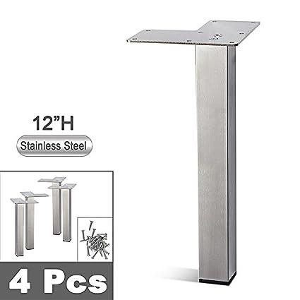 Superieur Stainless Steel Metal Sofa Legs, Furniture Legs, Square Tube, Straight  Design   Set