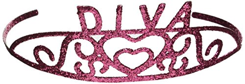 Glittered Diva Tiara Party Accessory (1 count) (1/Pkg)