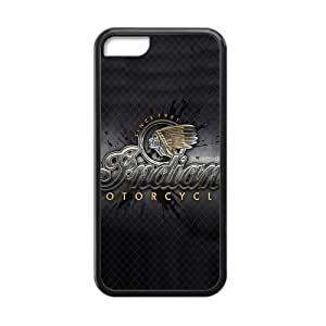 iPhone 5C Case Vintage Indian Motorcycles Logo Pattern Cover Cases for iPhone 5C (Laser Technology)