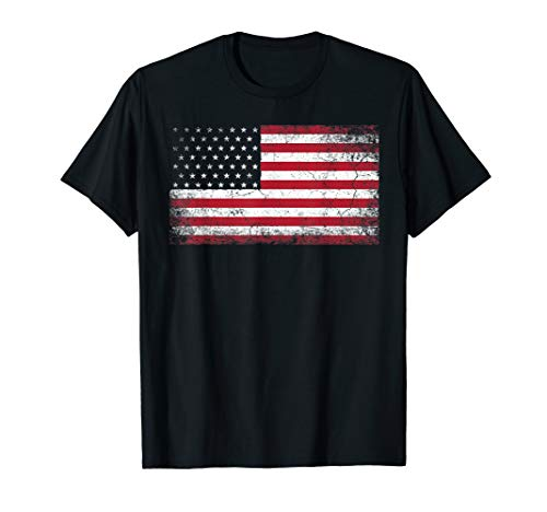 4th of July American Flag Vintage USA Men Women Patriotic T-Shirt ()