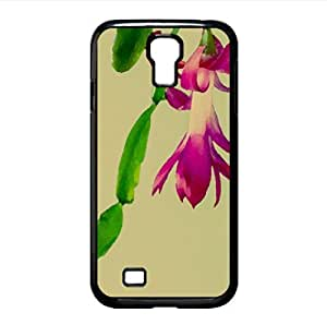 Christmas Cactus Watercolor style Cover Samsung Galaxy S4 I9500 Case (Flowers Watercolor style Cover Samsung Galaxy S4 I9500 Case)