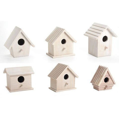 (Darice Bulk Buy DIY Wood Birdhouses Promo Assortment (6-Pack) 9164-50)