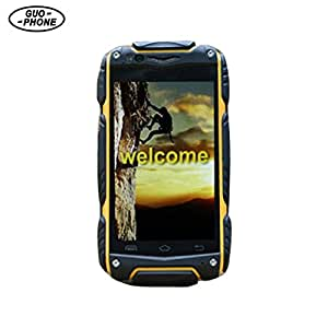 Oshide Guophone V8 Waterproof Phone Android 4.4 Outdoor Phone Dual Core MTK6572 512MB RAM Dual SIM With WIFI GPS (Yellow)