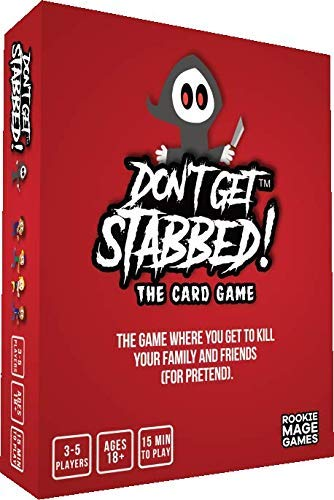 Don't Get Stabbed!: The Party Game Where You Get to Kill Your Family and Friends (for Pretend). Exciting Adult Card Game for Horror Movie Fans!