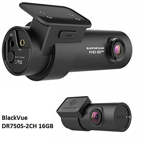 BlackVue DR750S-2CH 2-Channel 1080P Full HD Dashcam + Free Bonus - 2 Magnetic phone mounts (16GB) by Blackvue
