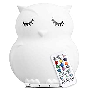 LED Nursery Night Lights for Kids with Bluetooth Music: Lumipets Cute Animal Silicone Baby Night Light with Sound Portable and Rechargeable Infant or Toddler Cool Color Changing Nightlight