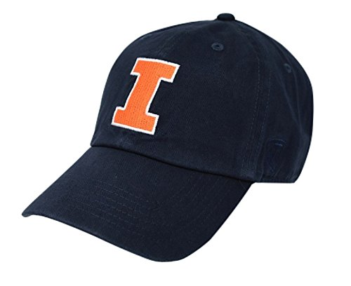 Elite Fan Shop Illinois Fighting Illini Hat Icon Navy