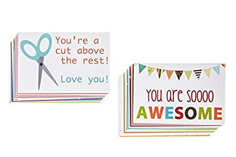 75067b7aecbc Designer Lunchbox Notes - 2 Packs of 27 Cards (2x3 Inch) - Multi