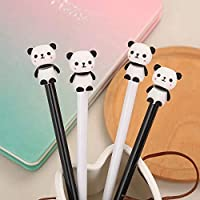 12 Pack Black White Panda Roller Ball Writing Gel Pen with 0.5 mm Fine Point Black Ink Tip Stationery Office Supplies Back to School Happy Birthday Gift Rolling Ball Gel Pens Fine Point Black Ink 12 C