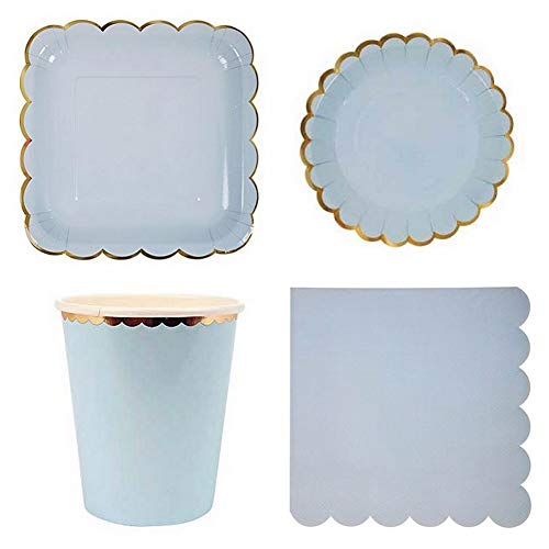   Teacup & Saucer Sets   44pcs Glod Paper Plates Cups Napkins Radial Stripe Gold Silver Stamp Party Kit Babyshower Kid Birthday Party   by AQANATURE