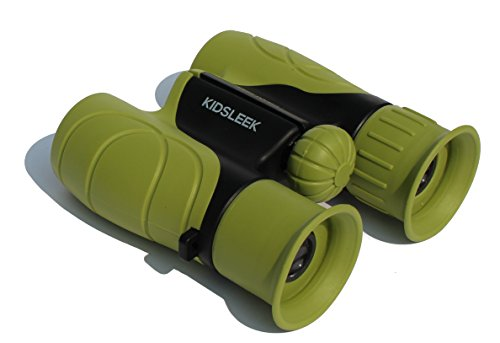 Kidsleek 8X21 High Resolution Kids Binoculars Set - Easy Grip - Foldable - Bird watching - Educational Toys - Hiking - Birthday Presents - Gifts for Children - Best outdoor toys - kids Outdoor