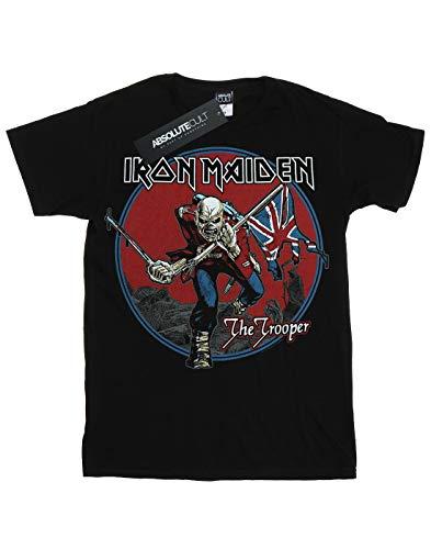 Sky Donna Red T Maiden Trooper Boyfriend shirt Iron Nero Fit 0wO8nPk