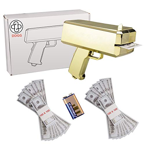 DDGG Make It Rain Money Gun - Cash Gun Funny Party Game -