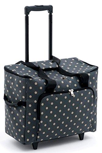 Amazon.com: Hobby Gift Value Trolley Bag Charcoal Polka Dot ...