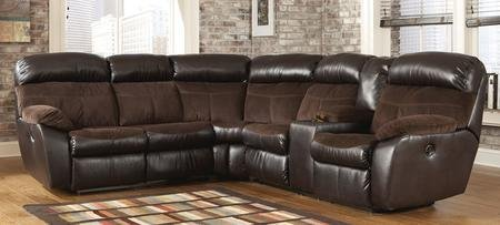 Berneen 54501-48-67 Reclining Sectional Sofa with Left Arm Facing Loveseat Right Arm Facing Loveseat with Console Storage and Cup Holders in (Left Reclining Sectional)