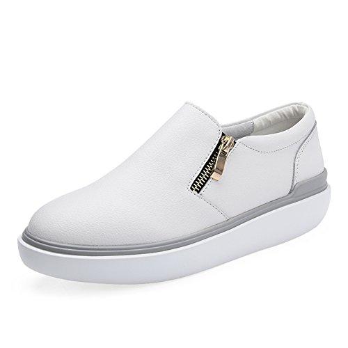 zapatos con cremallera/otoño ocio zapatos las mujeres/la esponja pastel con zapatos de suela gruesa/zapatos/Cabeza redonda con zapatos cómodos A