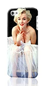 MAN CASE - Marilyn Monroe iPhone 5 5S Case , Designer Personalized Custom Plastic Hard CASE for iPhone 5 5S Durable New Style ROUGH Skin 3D Case Cover