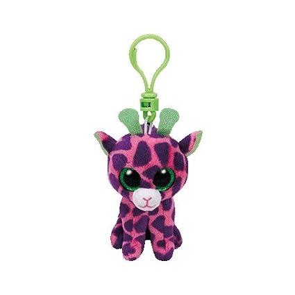 40138a77130 Amazon.com  Ty Beanie Boos - Gilbert The Pink   Purple Giraffe (Glitter Eyes)  (Plastic Key Clip)  Toys   Games