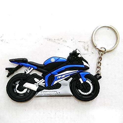 (Bike Keyring Keychain Keytag For Aftermarket Universal Car Motorcycle Accessories For Example Super Bike Sport Bike Street Bike yamaha yzf r1 r6 r6s fz6 fz fazer fz1 Rider Enthusiasts Collection)