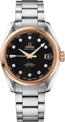 Dial Diamond Gold Black (Omega Seamaster Aqua Terra Steel/Red Gold Black Dial Diamond Watch 231.20.39.21.51.003)