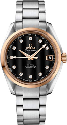 Omega Seamaster Aqua Terra Steel/Red Gold Black Dial Diamond Watch 231.20.39.21.51.003