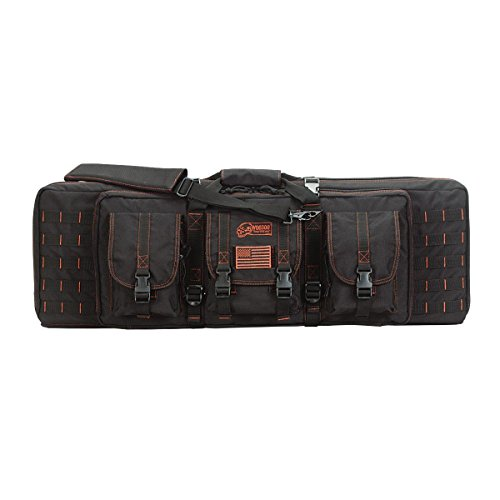 """Voodoo Tactical 15-7617 Custom Series 36"""" Padded Weapons Case, Black and Red"""