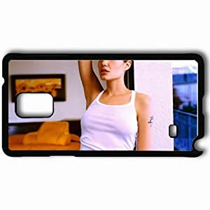 Personalized Samsung Note 4 Cell phone Case/Cover Skin Angelina jolie actress room Actress Black