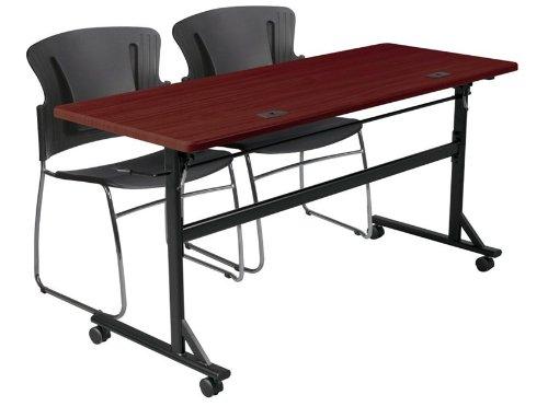 Economy Flipper Table 72'' x 24'' Mahogany by Generic