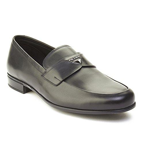 Prada Heren Lederen Loafer Schoenen Zwart