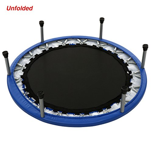 Balanu 40 Inch Mini Exercise Trampoline for Adults or Kids - Indoor Fitness Rebounder Trampoline with Safety Pad | Max. Load 220LBS (Blue-40In-Not Folding) by Balanu (Image #4)