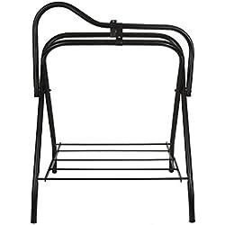 Intrepid International Folding Saddle Stand, Black