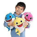 BabyShark Singing Plush - Music Sound Baby Shark Plush Doll Soft Baby Cartoon Shark Stuffed & Plush Toys Singing English Song For Kids Gift Children Girl,3 Colors (Blue)