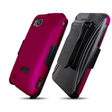 3 in 1 Combo Case & Holster for HTC Rezound ADR6425, Magenta