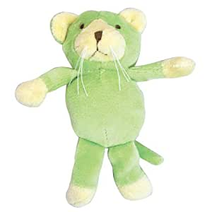 green sprouts by i play Organic Velour Rattle Toy - Cat