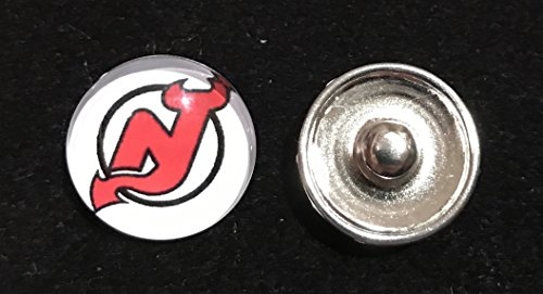 New Jersey Devils NHL Snap Ginger Button Jewelry for Jackets, Bracelets & more...
