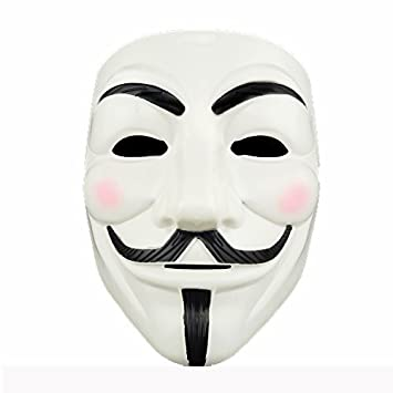 Adorox 1 Mask V For Vendetta White Costume Face Mask Anonymous Guy Fawkes