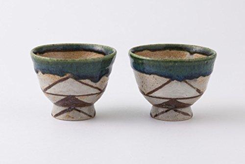 TOKYO ART GALLERY ISHIHARA - HIROSHI YAMAZAKI : Sake Bottle & 2 Cup Set (B) Japanese Pottery Ceramic [Standard ship by Int'l e-packet: with Tracking & Insurance] by Tokyo Art Gallery ISHIHARA (Image #3)