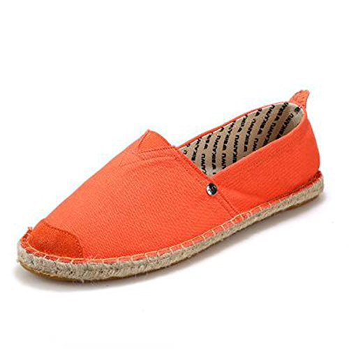 York Zhu Women Flats Shoes, Soft Breathable Casual Canvas Slip-on Loafers