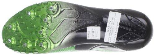 Puma Mens Bolt Evospeed Sprint Ltd Nero Lucido / Verde Fluorescente