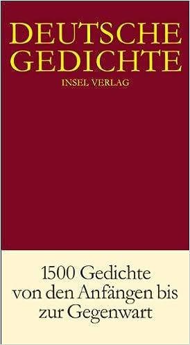 Deutsche Gedichte In Einem Band Amazonde Hans Joachim