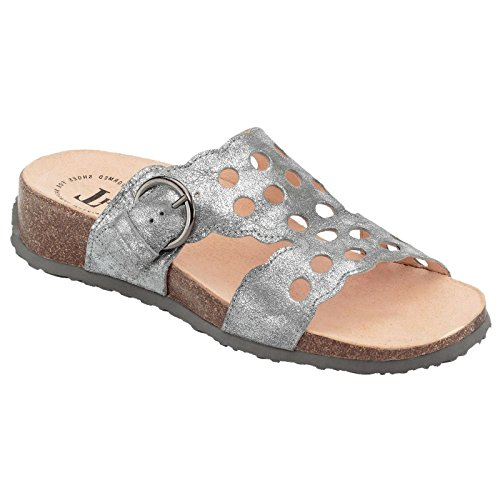 Think Womens Mizzi 82361 Silver Leather Sandals 39 EU by Think!