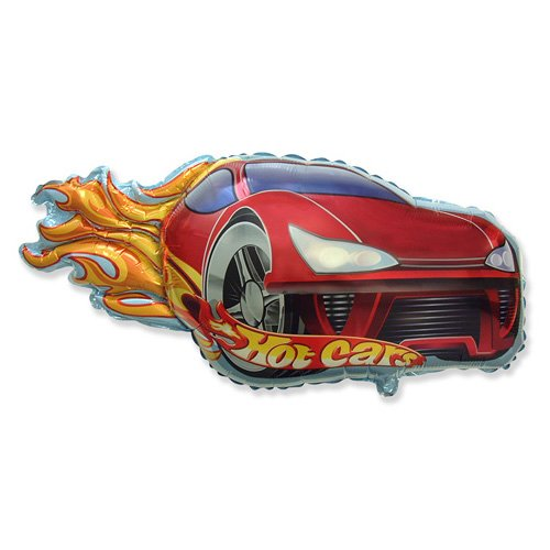 LA Balloons Foil Balloon 901748-RED Hot Car- Red, 31