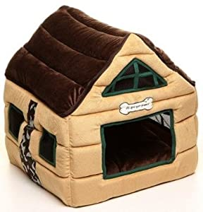 Amazon.com : Super Nice Brown Indoor soft Dog House/pets