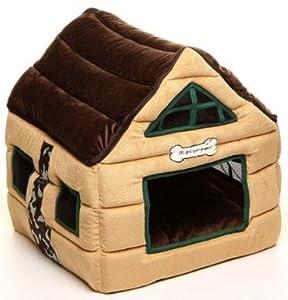 super soft nice brown indoor dog house pets beds pet kennels crates houses brown 53 53 56cm. Black Bedroom Furniture Sets. Home Design Ideas