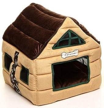 Amazon.com : Super Nice Brown Indoor soft Dog House/pets Beds Pet ...
